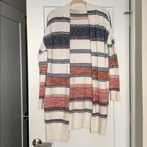LOFT: Striped Cozy Cardigan